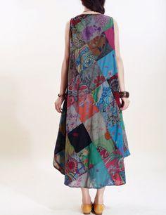 Romantic sleeveless long sundress от MaLieb на Etsy