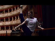 Svetlana Zakharova - Stretching & Warm-up in Italy