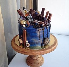 New ideas for birthday cake for husband special Birthday Cakes For Men, Birthday Cake For Husband, Novelty Birthday Cakes, Novelty Cakes, Cakes For Boys, Special Birthday, Cake Birthday, Roblox Cake, Alcohol Cake