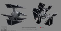 """Thrawn's """"TIE-DEFENDER"""" Prototype, equipped with its own 'hyperdrive'; An advantage over traditional TIE-Fighters."""