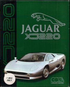 Jaguar XJ220 - Amiga Game  Front Cover