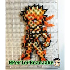 Naruto (in Nine-Tails chakra mode) perler beads by perlerbeadjake