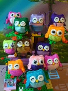 1500 Free Amigurumi Patterns: Little owls crochet pattern
