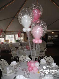 Pink Baby Shower Balloon in Balloon Centerpiece