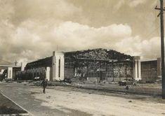 Destroyed Hangar at Pearl Harbor, Hickam Field
