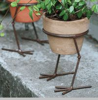 Bird feet plant stands..to cute.