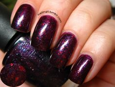 nailingit:  opi - merry midnight such a special polish <333. took me a really long time to wear this, was waiting for the right moment. then lara-jik came to see me and it was on. look at the maggggiiiccccccc.