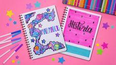 Haz PORTADAS BONITAS para tus materias - REGRESO A CLASES Notebook Art, Bullet Journal School, Study Notes, Cool Things To Make, Picsart, Scrapbook, Letters, Make It Yourself, Tumblr