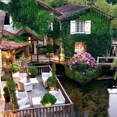 Who would you bring? Le Moulin du Roc was originally a plant to extract walnut oil but it is now a renovated hotel in #Brantome #France // Photo by Chateaux et Hotels Collection #restlessarch - Architecture and Home Decor - Bedroom - Bathroom - Kitchen And Living Room Interior Design Decorating Ideas - #architecture #design #interiordesign #homedesign #architect #architectural #homedecor #realestate #contemporaryart #inspiration #creative #decor #decoration