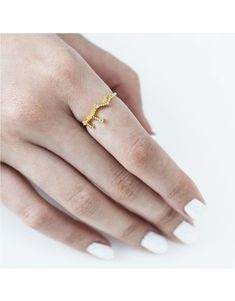(Idk if Truth is a virgo, the astrology is diff in this universe anyways, but shed def wear constellation jewelry) >>Virgo Zodiac Gold Ring Jewelry Trends, Jewelry Accessories, Wanderlust And Co, Virgo Zodiac, Signet Ring, 18k Gold, Silver Rings, Fashion Jewelry, Jewels