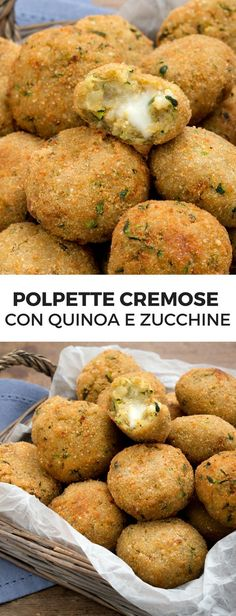 Quinoa, courgette and stracchino meatballs – Meat Foods Ideas Raw Food Recipes, Meat Recipes, Healthy Dinner Recipes, Italian Recipes, Vegetarian Recipes, Couscous Quinoa, Light Recipes, International Recipes, Diy Food