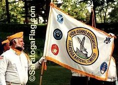 """The Official """"Saratoga National Honor Guard"""" Flag.  New York.  Made in USA."""