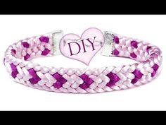 """DIY: Kumihimo ♡LOVE♡ bracelet / Браслет """"Кумихимо"""" плоский из 12 нитей (..."""