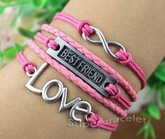 Best friend friendship bracelet  unique LOVE by superbracelet, $5.99
