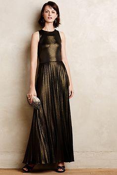 0dd7c3e7056d Pleated Gilt Gown by Donna Morgan. Jodi Vautrin   Ourhaus · Holiday    Fashion