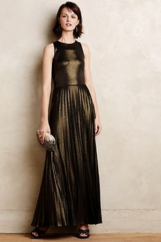 Pleated Gilt Gown #anthropologie
