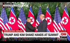 North Korean leader Kim Jong-un and US President Donald Trump have arrived at the summit venue Singapore. The historic first meeting of the two leaders will discuss a peace treaty and denuclearization of the Korean Peninsula. Donald Trump, Kim Jong Un, Summit Meeting, Korean Peninsula, Morning Joe, World Religions, Shake Hands, Nbc News, Us Presidents