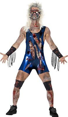 You can buy a Men's Zombie Wrestler Costume for Halloween parties from the Halloween Spot. This blue costume comes with Bodysuit, Latex Mask, Leg & Arm Cuffs. Zombie Halloween Costumes, Halloween Costume Accessories, Halloween Fancy Dress, Christmas Costumes, Family Halloween, Halloween Party, Wrestling Costumes, Bodysuit Costume, Blue Costumes