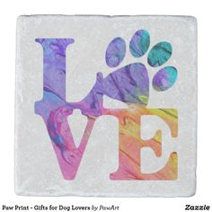 Shop Paw Print - Gifts for Dog Lovers Stone Coaster created by PawArt. Paw Print Crafts, Paw Print Art, Dog Crafts, Paw Prints, Dog Lover Gifts, Dog Lovers, Dog Paw Art, Miss My Dog, Dog Paws