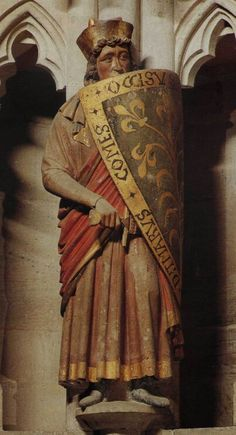 Statue of Count Dietmar of Selbold (Gelnhausen), killed in the battle at the Welfesholz (1115), co-founder of Naumburg Cathedral, Naumburg, Germany.