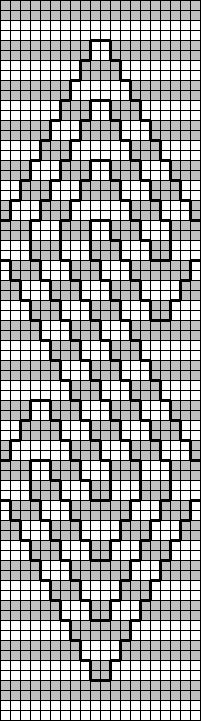 tablet weaving pattern from the book Special Tablet Weaves by Marijke van Epen