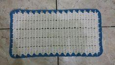 JOGO DE COZINHA HARMONIA EM CROCHÊ COM PASSO A PASSO Pineapple Crochet, Filet Crochet, Floor Mats, Flooring, Rugs, Home Decor, Blue Carpet, Crochet Rug Patterns, Facades
