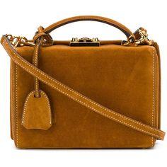 Mark Cross structured box handbag (27.359.650 IDR) ❤ liked on Polyvore featuring bags, handbags, brown, man bag, structured bag, handbags bags, brown purse and purse bag