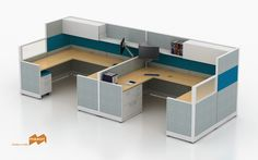 """This design showcases the office that requires privacy, but doesn't want the """"boxed in"""" feel. The Appoint Office Furniture Warehouse, Flexible Furniture, Cubicles, Panel Systems, Prefixes, Showcase Design, The Office, Your Space, Color Pop"""