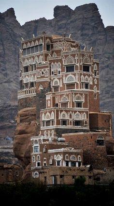 Palacio de la Roca, Yemen.