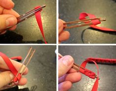 DIY Anthropologie Ribbon Bobby Pins. I want to make these for my hair!