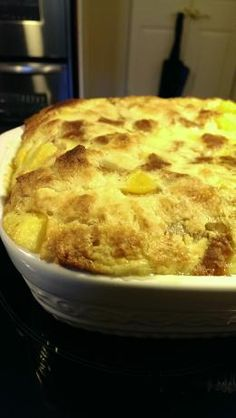 Fresh Peach Bread Pudding Recipe