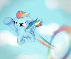 Rainbow Soars by vcm1824.deviantart.com on @DeviantArt