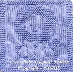 Knitting Cloth Pattern HAPPY LION PDF by ezcareknits on Etsy