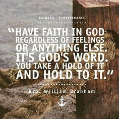 Hold to God's word.