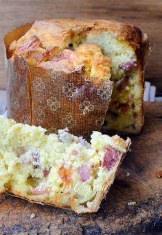 Panettone salato farcito ricetta veloce senza lievitazione vickyart arte in cucina