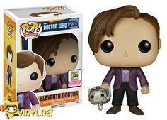 Pop! TV- Doctor Who – Eleventh Doctor holding Cyberman Head Funko pop vinyl SDCC