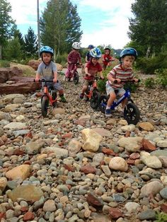 There is hope for the future - Kids on bikes