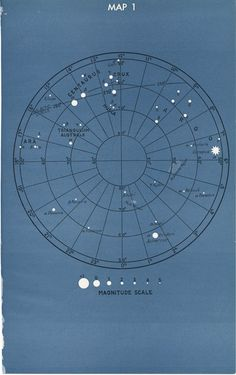 Vintage Astronomy Star Constellation Map