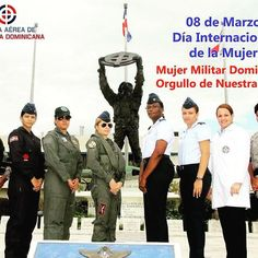 Hoy conmemoramos el Día Internacional de la Mujer Felicitamos a la Mujer Dominicana porque la igualdad de la mujer significa el progreso para tod@s.  Mujer Militar Dominicana ejemplo de sacrificio valor y lealtad Felicitamos a todas las damas que componen nuestra Fuerza Aérea en el #DíaInternacionaldelaMujer