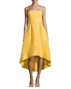 Strapless High-Low Cocktail Dress, Sun by ML Monique Lhuillier at Neiman Marcus.