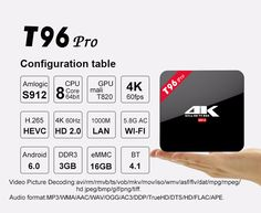 T96 PRO (RAM: 2GB) *Direct contact (Manufacturer) ●Skype: stevenching1976 ●EMail: steven@unuiga.com ●Phones: +86-755-86110143 +86-180-38133940 ●www.UNUIGA.com #T96Pro #AndroidTVBox #TVBox #OttTVBox #ipTV #Kodi #H265 #UltraHighDefinition #UHD #4K #SmartTV #SmartBox #SmartTvBox #Android #MXQ #MXQPro #Amlogic #AmlogicS912 #S912 #Unuiga T96 Pro RAM 3GB, Unuiga, Android TV Box, UHD 4K, Smart TV, H265, H.265, Smart Box, Smart TV Box, Amlogic S912, iptv, Kodi