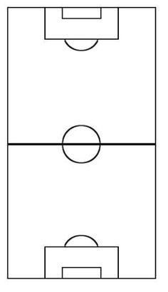 Blank Soccer Field Diagram 16 236 X 410 Carwad Net Soccer Field Football Formations Football Pitch