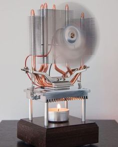 Thermoelectric fan powered by a candle!