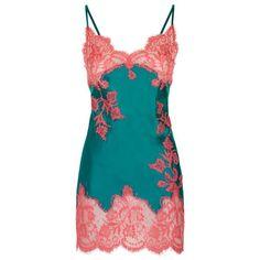 Marjolaine Lace Trim Short Silk Chemise ($410) ❤ liked on Polyvore featuring intimates, chemises, holiday lingerie, silk lingerie, lingerie chemise, silk chemise and chemise lingerie
