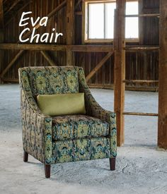 bcea07b21 Eva chair with its dramatic high tight back and lumbar frames beautiful  fabric applications.