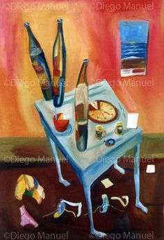 """3 cervezas "",acrylic on canvas, 45 x 65 cm. , 2002. Price of original painting us$ 500"
