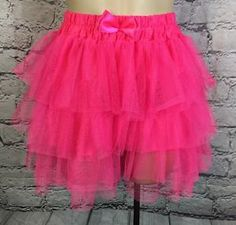 Pink Layered Tutu Skirt By Hot Topic one size Club Rave Festival cosplay I208  | eBay