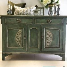 Commissioned buffet with inspiration drawn from textiles   Chalk Paint® by Annie Sloan project from Auckland, NZ stockist Taylored Revival