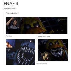 Lol, I don't watch these noobs tho. I'm da queen of FNaF 3 took me 1 hour to get to night 5. Mark is not king, 8-BitRyan is.