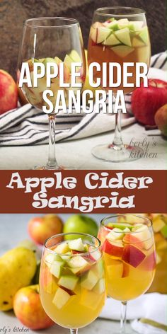 Apple Cider Sangria - - Just in time for Fall, our simple apple sangria recipe! It's features crisp apples combined with white wine, apple cider, and our favorite vodka. Caramel Apple Sangria, Apple Cider Sangria, White Wine Apple Sangria Recipe, Simple Sangria Recipe, Apple Cocktails, White Wine Sangria, Red Sangria, Fall Cocktails, Coctails Recipes